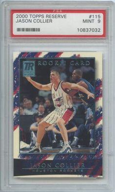 2000-01 Topps Reserve Jason Collier #115 Rookie 0434/1499 PSA 9 MINT