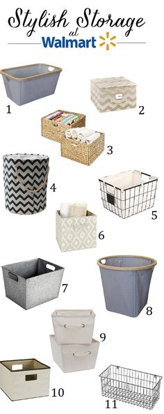 """In the middle of a closet clean-out last week, I ran to Walmart to look for a couple of storage baskets. I was surprised at how many good options I found. A lot of them looked very """"Container Store-esque"""" but at better price points. image: Better Homes & Gardens  Here are some of the …"""