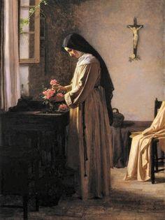 "The Still Point: ""O adorable Jesus, by consecrating to You all that. Catholic Art, Catholic Saints, Roman Catholic, Patron Saints, Sainte Therese De Lisieux, Ste Therese, Religious Images, Religious Art, Tableaux Vivants"