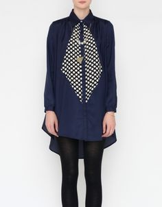 total awesomeness of navy & black color combo: Theophilus Shirt Dress