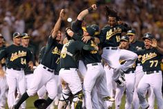 Oakland secured its first postseason berth since 2006, but the Athletics remain in pursuit of a bigger prize.    Coco Crisp had two hits, including a go-ahead RBI double in the fifth inning, and two runs scored in Oakland's 4-3 win over the Texas Rangers in the opener of a regular season-ending three-game series.