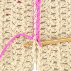 Creating a Single Crochet Invisible Straight Seam In The