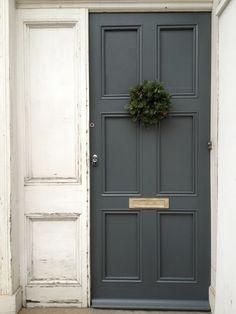 Back Entry: paint garage door a dark grey?
