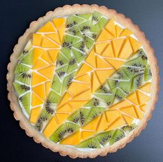 Kiwi, Mango, Cream, Tarts, Sweet, Desserts, Food, Manga, Mince Pies