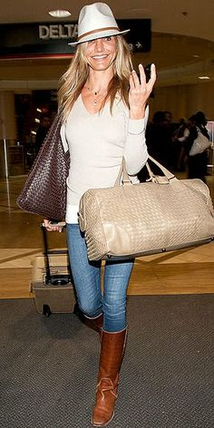 Cameron Diaz  at LAX  - Explore the World with Travel Nerd Nici, one Country at a Time. http://TravelNerdNici.com