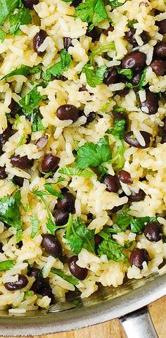 Cilantro-Lime Black Bean Rice - easy side dish.
