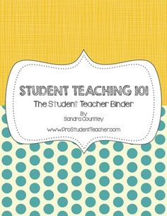 Student Teaching The Ultimate Student Teacher Guidebook Student Teaching The Student Teacher Binder Student Teacher Binder, Teacher Tools, Teacher Hacks, School Teacher, Teacher Resources, Teacher Assistant, Teacher Portfolio, Classroom Activities, Classroom Ideas
