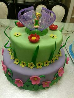 Tinkerbell cake by me