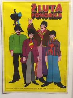 """1971 Beatles """"Yellow Submarine"""" movie poster from Czechoslovakia. Western music was frowned upon in communist-era Czechoslovakia, and fans were sometimes persecuted."""