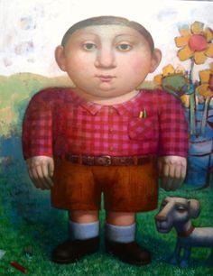 Álvaro Reja Naive Art, Painting, Portrait, Pintura, Painting Art, Paintings, Paint, Draw