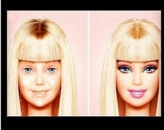 Barbie without makeup!!! HAHA