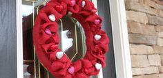 {Burlap & Heart Valentine Wreath}