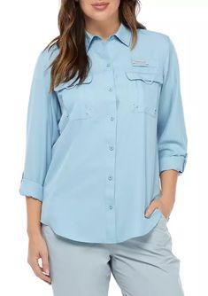 Ocean & Coast® Women's Convertible Long Sleeve Fishing Shirt | belk Non Iron Shirts, Twill Shirt, Boyfriend Shirt, Fishing Shirts, Sleeveless Shirt, Printed Shirts, Shirt Style, Convertible, Hiking Outfits