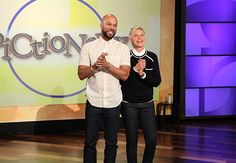 Common and Ellen play Pictionary