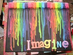 Imagine Melted Crayon Art