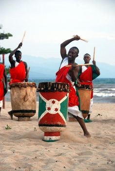 Burundi... traditional drummers on the beach...