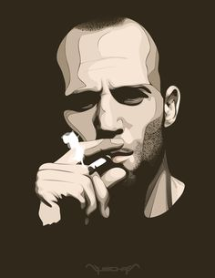 Jason Statham : my favorite bald man Bald Man, Vector Portrait, Jason Statham, Japanese Prints, Sugar Art, Retro Art, Black And White Pictures, Pictures To Paint, Illustrations Posters