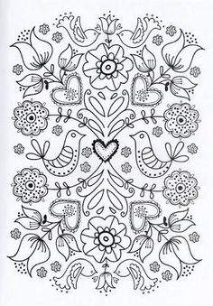 Flower Coloring Pages For Adults Printable - Free Coloring Sheets Adult Coloring Pages, Flower Coloring Pages, Printable Coloring Pages, Coloring Sheets, Coloring Books, Printable Art, Mandala Coloring, Colouring In, Simple Coloring Pages