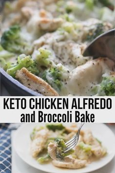 Mouthwatering Creamy Keto Chicken Alfredo with Broccoli Bake is the ultimate comfort food that is easy to make, low carb Ketogenic Recipes, Low Carb Recipes, Diet Recipes, Healthy Recipes, Low Carb Chicken Recipes, Healthy Food, Healthy Meals, Ketogenic Diet, Tasty Meals