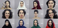 100 Years of Changing Iranian Beauty, Hair, and Makeup in 1 Minute