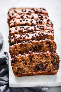 Paleo Chocolate Chips Almond Flour Banana Bread  #justeatrealfood #primaverakitc