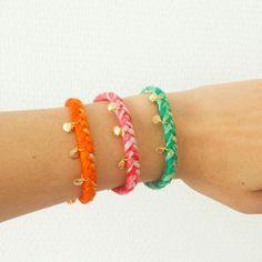 Bracelets tresse et coquillages #elodietrucparis --> www.elodietrucparis.tictail.com