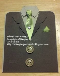 Father's Day Suit and Tie by stampingshelle - Cards and Paper. Best Picture For Fathers Day Crafts Daddy Day, Suit Card, Diy Cards, Men's Cards, Scrapbook Cards, Scrapbooking, Fathers Day Crafts, Stationary Gifts, Winter Cards