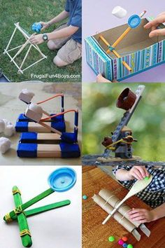 Making a catapultwith kids starts out as a craft and ends with a fun activity! Add a target or a competitive goal and now you have a game. It might possibly be the perfect toy!  15 DIY Catapults All these catapults to make at home use everyday objects – hopefully you won't have to …
