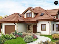 Картинки по запросу одноэтажник с красной крышей
