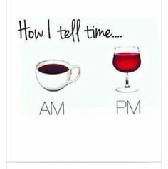 Is it 7 o'coffee or 7 o'wine?
