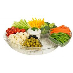 Chef's Iced Party Serving Tray: Round Ice Tray Chiller with 9 Compartments | Aspen Country