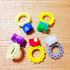 3D Perler bead rings by nun