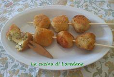 Crocchette di patate e zucchine con cuore filante