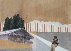 """Saatchi Art Artist Mairi Timoney; Collage, """"Inland VI"""" #art"""