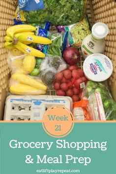 Grocery Shopping & Meal Prep Week 21 | Sometimes you'll have a few hours to prepare healthy foods for the week and other times there is NO TIME! Click through to see two clean eating recipes that are perfect for meal prep, but require zero cooking!