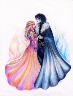 Ice and Fire (Jon and Dany) by La-Chapeliere-Folle.deviantart.com on @deviantART