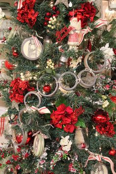 JOYWORKS - this gal is so clever -- how fun to use mason jar lids in a garland...!