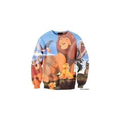 Lion King Fashion ❤ liked on Polyvore featuring sweaters and tops
