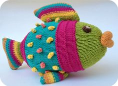 Handmade, cotton knitted fish, baby soft toy. Tropical fish plush toy. Safe baby toy, non irritant. Baby shower gift. Birthday baby soft toy...