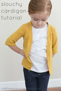 craftiness is not optional: slouchy cardigan tutorial