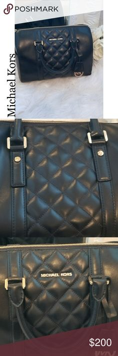 Michael Kors Grayson  Quilted Satchel This purse is almost in new condition. Comes with long straps and dust bag.  Please see all pics before purchasing. Michael Kors Bags Satchels