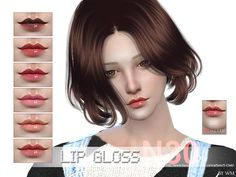 Lipstick for all age, 8 colors, enjoy, thank you. Found in TSR Category 'Sims 4 Female Lipstick' My Sims, Sims Cc, Sims 4 Cc Makeup, Sims 4 Characters, Sims 4 Game, Sims 4 Update, Sims Community, Sims Resource, The Sims4