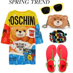 Designer Clothes, Shoes & Bags for Women Spring Sandals, Jelly Sandals, Spring Trends, Moschino, Cute Outfits, Shoe Bag, Polyvore, Issa, Design