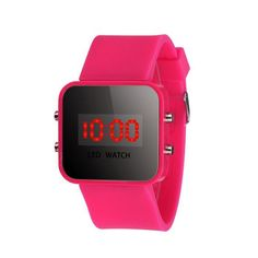 e7bfa0ba44 LED Screen Digital Silicone Strap Girl Boy Quartz Sport Kids Wrist Watch