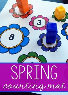 preschooler really liked this spring math activity. Love that he got some awesome counting practice in fewer than ten minutes!My preschooler really liked this spring math activity. Love that he got some awesome counting practice in fewer than ten minutes! Counting Activities, Spring Activities, Classroom Activities, Spring Theme For Preschool, Number Activities, Classroom Ideas, Fun Math Games, Preschool Math Games, Preschool Class