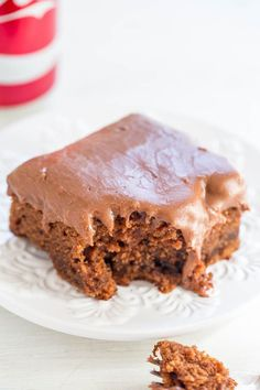 Coca-Cola Cake - One cake of Coke in the cake and another can of Coke in the frosting!! EASY no-mixer cake that's supremely moist! Tastes like a Texas sheet cake spiked with Coke!!