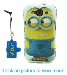 DD(TM) Style 6 Funny Cartoon Despicable Me 2 Yellow Henchmen Minions TPU Soft Case Cover Skin for Samsung Galaxy S3 SIII i9300 with 3 in 1 Anti-dust Plug/LCD cleaning cloth/Cable tie