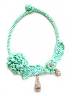 Mint necklace Wedding necklace Mint wedding Brides by LindaLejn
