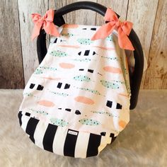 RTS Mint peach feather cover girl fitted by SnugglyLilBabes