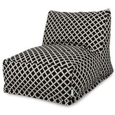 Majestic Home Goods 85907220303 Black Bamboo Bean Bag Chair Lounger